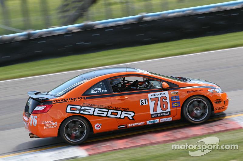 #76 Compass360 Racing Honda Civic Si: Daniel Rodgers, John Kuitwaard