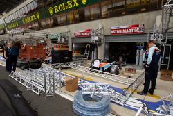 Aston Martin Racing pit area
