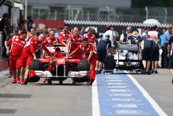 Scuderia Ferrari on pit lane