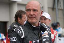 Dr. Wolfgang Ullrich celebrates with emotion