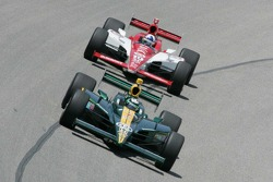 E.J. Viso, KV Racing Technology-Lotus and Dario Franchitti, Target Chip Ganassi