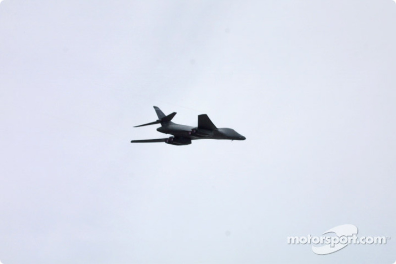 Fly over before the race