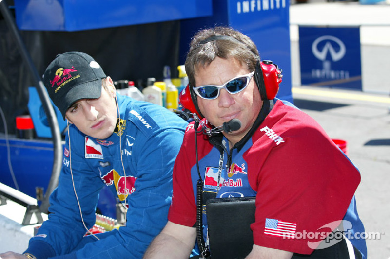 Tomas Scheckter and crew chief Owen Snyder III
