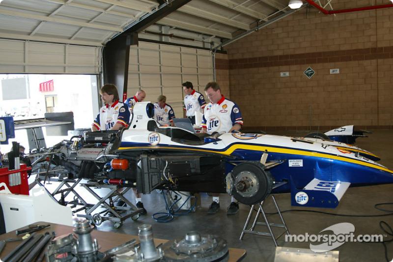 Garage du Team Rahal