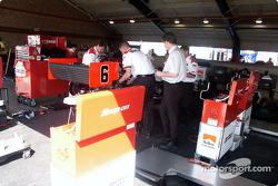 Penske garage area