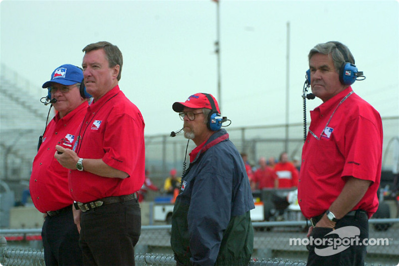 Johnny Rutherford and Al Unser