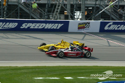 Sam Hornish Jr. and Al Unser Jr.