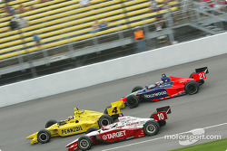 Sam Hornish Jr., Tomas Scheckter and Alex Barron
