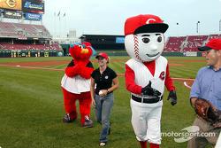 Visit at a Cincinnati Reds baseball game: Sarah Fisher