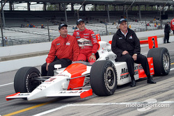 Tim Cindric, Helio Castroneves and Roger Penske