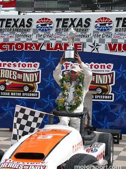 Pancho Carter celebrates victory