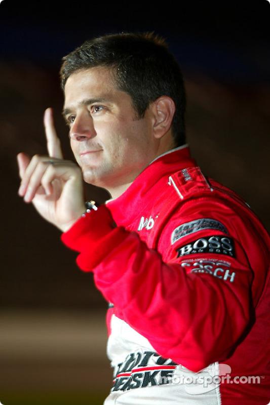 Gil de Ferran célèbre la pole position