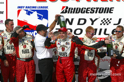 Champagne shower for Dan Wheldon