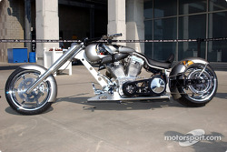 Indy Choppers rolled out the first of a limited edition of 100 bikes being constructed to commemorate the 88th running of the Indianapolis 500 Mile Race