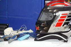 Alex Barron's helmet