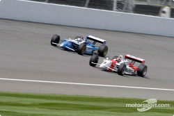 Helio Castroneves and Alex Tagliani