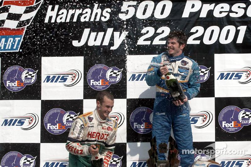 The podium: Michel Jourdain Jr. and Patrick Carpentier having fun