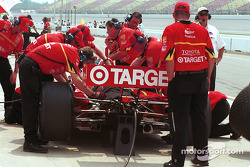 Chip Ganassi Racing working in the pits
