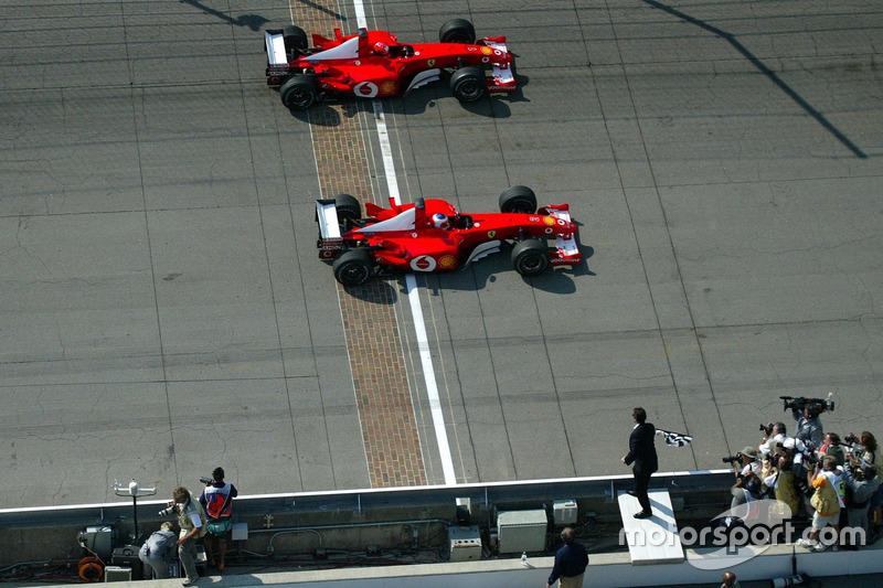 En 2002, Barrichello y Schumacher lograron uno de los más cerrados finales de carrera en la historia de la F1 con solo una diferencia de tiempo de 0.011, llevándose la victoria el brasileño.