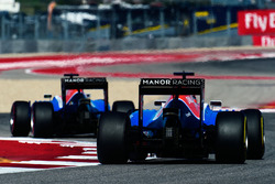 Esteban Ocon, Manor Racing MRT05 follows team mate Pascal Wehrlein, Manor Racing MRT05