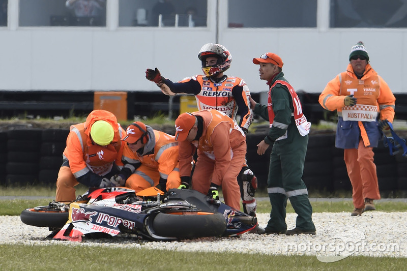 Marc Márquez, Repsol Honda Team, choque
