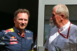 Christian Horner, teambaas Red Bull Racing en Dr Helmut Marko, Red Bull Motorsport Consultant