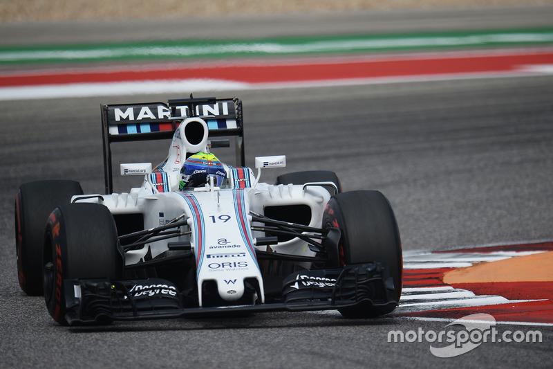 Felipe Massa perdeu posição para Fernando Alonso na corrida e também no campeonato. O brasileiro da Williams agora é o 11° colocado.