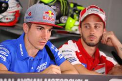 Maverick Viñales, Team Suzuki Ecstar MotoGP en Andrea Dovizioso, Ducati Team