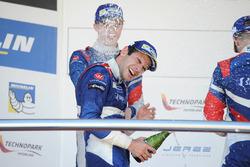 Podium: Race winner Matevos Isaakyan, SMP Racing; second place Egor Orudzhev, Arden Motorsport; third place Matthieu Vaxiviere, SMP Racing