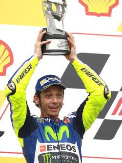 Podium: segundo, Valentino Rossi, Yamaha Factory Racing