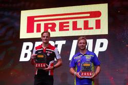 Prix du Meilleur tour 2016 pour Chaz Davies (Superbike) et Kyle Smith (Supersport)