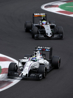 Felipe Massa, Williams FW38; Sergio Perez, Sahara Force India F1 VJM09