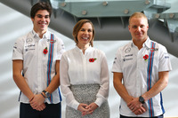 Lance Stroll, Valtteri Bottas, Claire Williams, Williams Deputy Team Principal