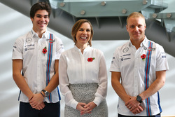 Lance Stroll, Williams; Valtteri Bottas, Williams; Claire Williams, Williams, Stellvertretende Teamchefin