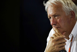 Charlie Whiting, FIA Delegate in the FIA Press Conference