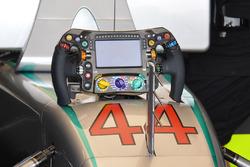 Lewis Hamilton, Mercedes AMG F1 W07 Hybrid, steering wheel detail