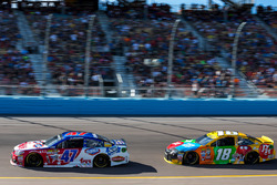 A.J. Allmendinger, JTG Daugherty Racing Chevrolet, Kyle Busch, Joe Gibbs Racing Toyota