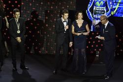 Carmelo Ezpeleta, CEO Dorna Sports, Valentino Rossi, Yamaha Factory Racing, Jorge Lorenzo, Yamaha Factory Racing