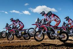 Monster Energy Honda Team: Michael Metge, Paulo Goncalves, Ricky Brabec, Kevin Benavides, Joan Barreda