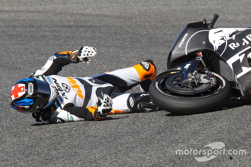 Bradley Smith, Red Bull KTM Factory Racing, accidente