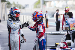 Polesitter Alexander Albon, ART Grand Prix & Antonio Fuoco, Trident