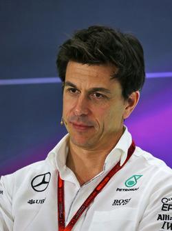 Toto Wolff, Directeur Exécutif Mercedes AMG F1 lors de la conférence de presse de la FIA