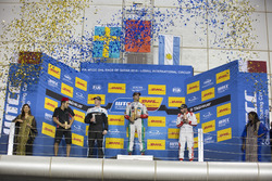 Podium: Race winner Mehdi Bennani, Sébastien Loeb Racing, Citroën C-Elysée WTCC; second place Thed Björk, Polestar Cyan Racing, Volvo S60 Polestar TC1; third place José María López, Citroën World Touring Car Team, Citroën C-Elysée WTCC