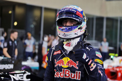 Daniel Ricciardo, Red Bull Racing celebrates his third position in qualifying parc ferme