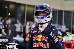Daniel Ricciardo, Red Bull Racing fête sa troisième place dans le Parc Fermé