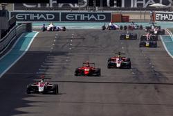 Alexander Albon, ART Grand Prix leads Jack Aitken, Arden International