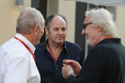 Dr Helmut Marko, Red Bull Motorsport Consultant with Gerhard Berger and Flavio Briatore