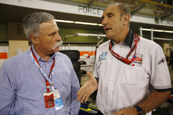 Chase Carey, Liberty Media, with Bruno Michel, GP2 Series
