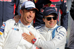 Jenson Button, McLaren F1 et Felipe Massa, Williams F1 Team