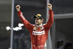 Podium : le troisième, Sebastian Vettel, Ferrari